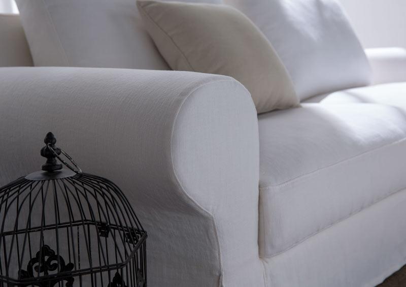 Detalle del clásico sofá Callas de la nueva colección Berto 2014
