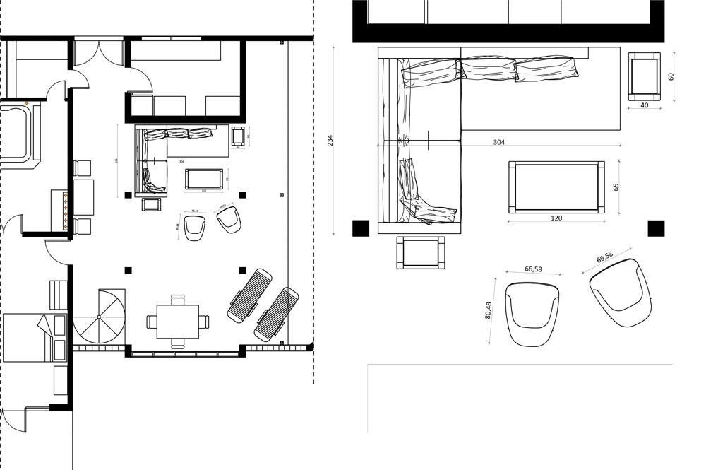 Proyecto de mobiliario BertO para la suite Calabash Hotel