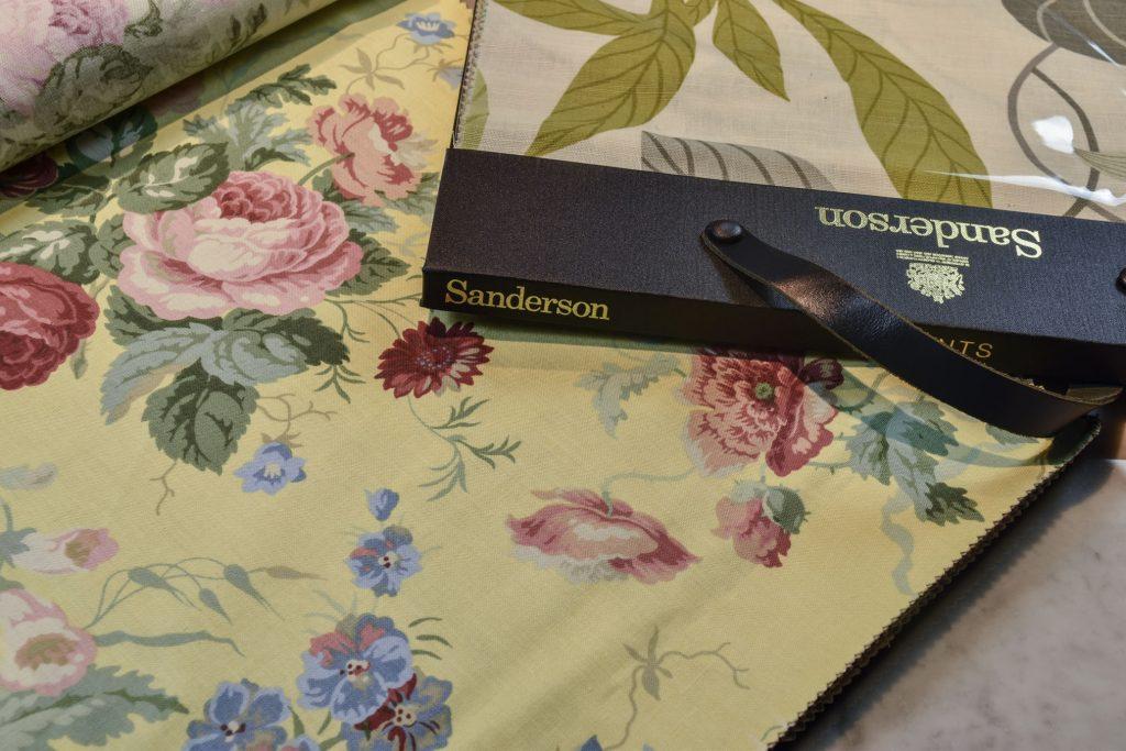 Sanderson telas BertO textil colección