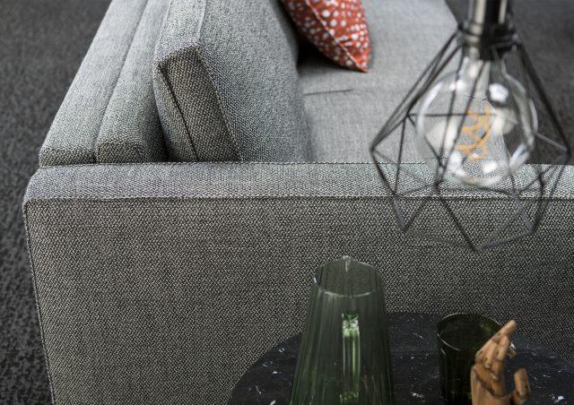 perfil sofá cama de tela Gulliver