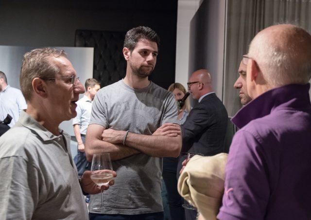 Francesco Cancellato a BertoLive Meda showroom berto salotti