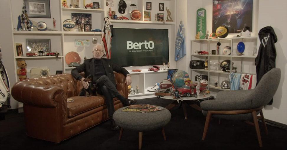 El Made in Meda de BertO amuebla el estudio de televisión del periodista Guido Bagatta para el programa LBA on AIR