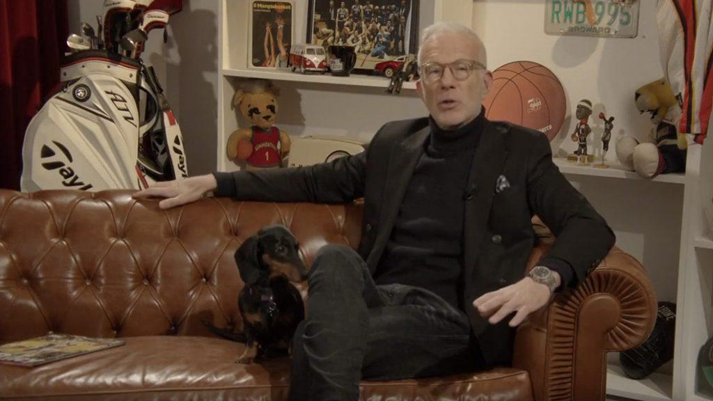 el estudio de televisión del periodista Guido Bagatta