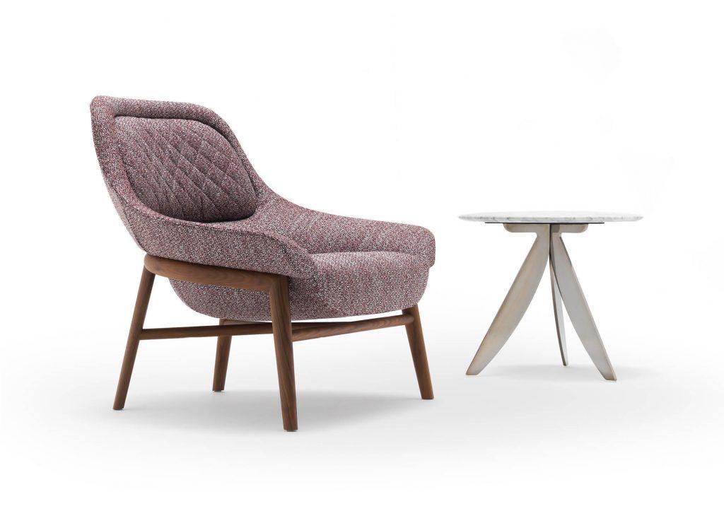 Sillón Hanna y mesa pequeña Circus colección diseño BertO para el MDFF 2020