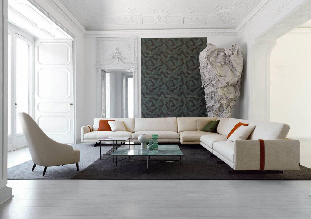 BertO Salotti sofá y sillón beige