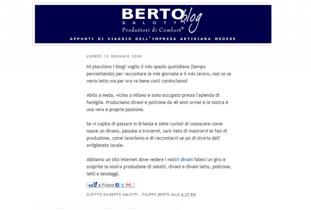 Berto Blog, el primer blog de Berto Salotti, creado en 2004