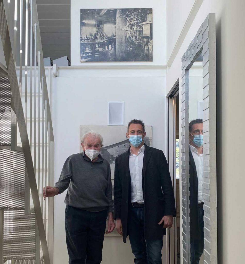 Cita: profesor Eugenio Boga y Filippo Berto para el proyecto Made in Meda