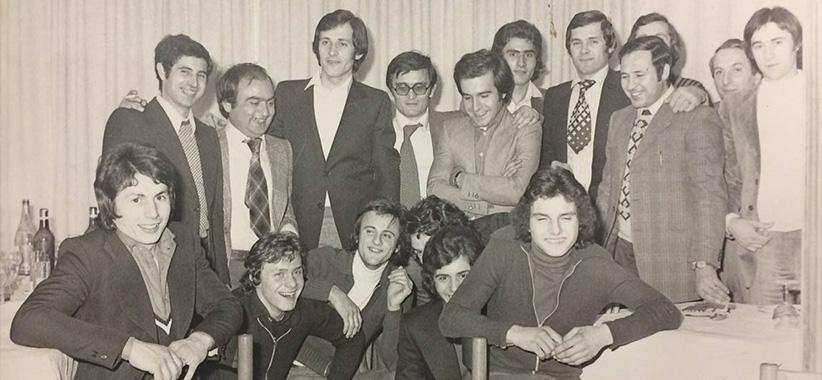 Fioravante y Carlo Berto en Brianza años 70