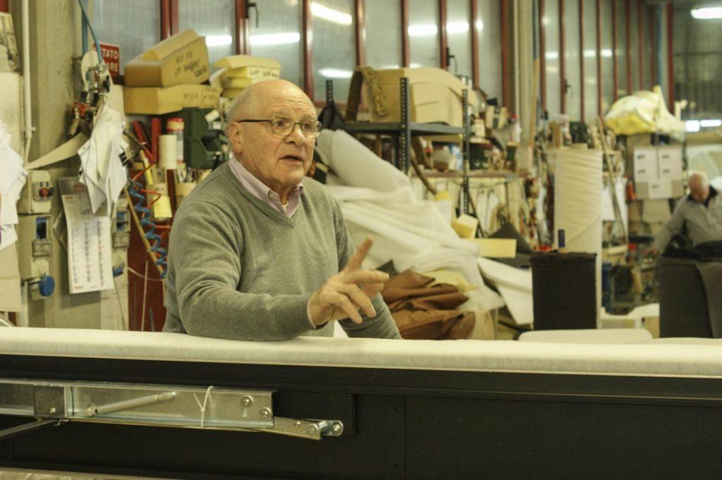 Giorgio Berto en el taller