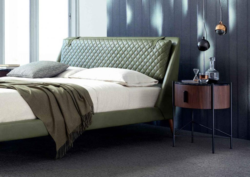 Dormitorio BertO - Cama de piel Chelsea