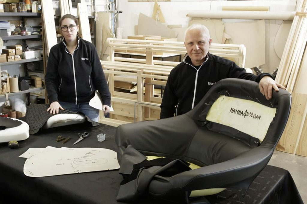 Anna Castoldi y Flavio Cairoli - sillón Hanna en colaboración con Dyloan